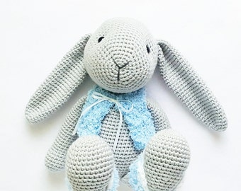 "Amigurumi crochet pattern ""Bunny little Paula"" PDF (English/ German)"