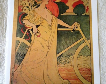 Vintage Bicycle Poster 1900s Orient Cycles / Clement Bicycles Poster Size Book Plate
