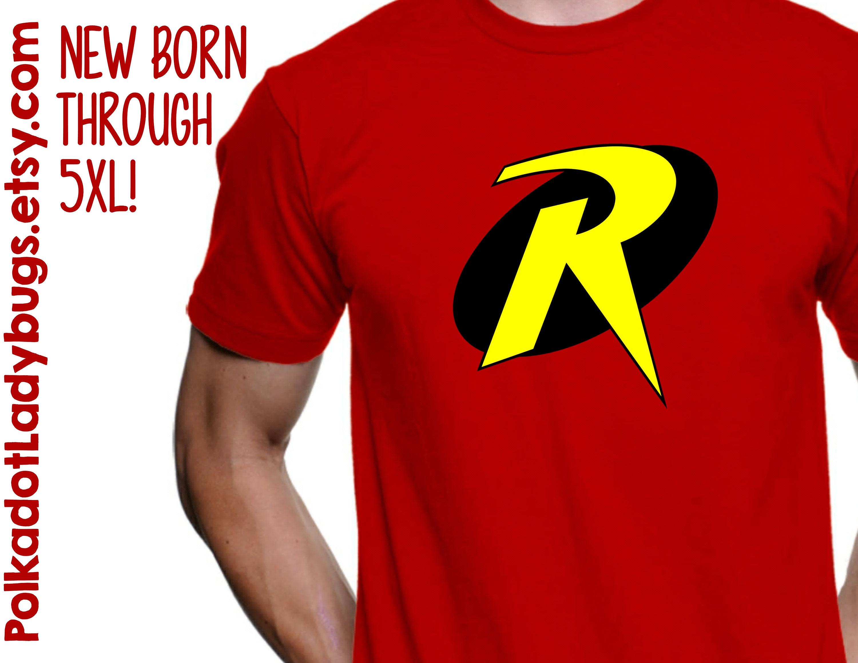 Robin symbol batman and robin t shirt new born through 5xl zoom buycottarizona Gallery