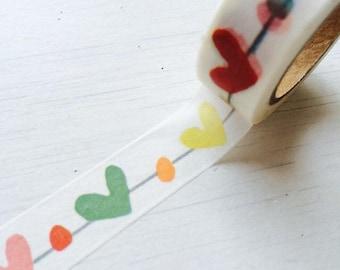 Washi Tape - Hearts and Dots - no.783 // 15mm x 10m