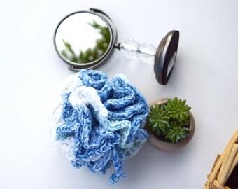 Crochet bath pouf 100% cotton natural eco friendly scrub ball shower puff bath sponge shower scrubby multicolor gift for friend Christmas