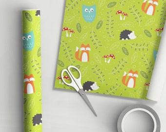 Woodland Animals Gift Wrap