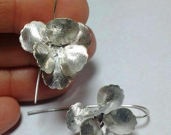 Sterling Silver 3D 3 leaf clover