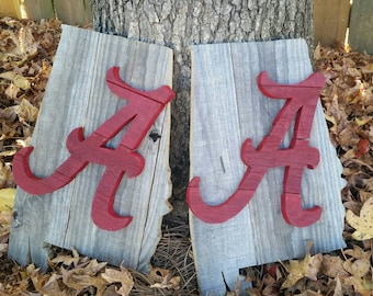 Rustic Alabama Crimson Tide Wall Hang