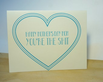 Mother's Day Letterpress Card