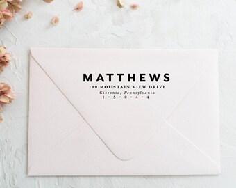 Modern Return Address Stamp, Calligraphy Address Stamp, Personalized Address Stamp, Wedding Stamp, Custom Address Stamp, Wedding Gift