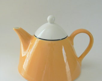 Pagnossin Yellow Teapot, Vintage Teapot, Pagnossin Spa Yellow Tea Pot, Pagnossin Coffee Pot, Treviso Italy
