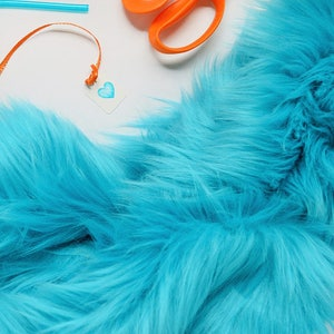 Turquoise Faux Fur Craft Squares, Turquoise Fur Fabric, Turquoise Faux Fur Fabric, Turquoise Fur, Light Blue Fur, Fake Fur, Turquoise Fur