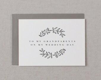 Wedding Card To My Grandparents Wedding Day - To My Grandparents Wedding Card, Thank You Wedding Card, Wedding Note, Wedding Stationery, K9