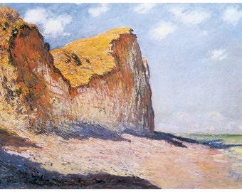 Hand-cut wooden jigsaw puzzle. CLIFFS POURVILLE. Claude Monet. Impressionist. Impressionism. Wood, collectible. Bella Puzzles.