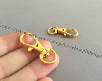wholesale 20 Pieces /Lot Antique Gold plated 13mmx32mm Lobster claw clasp (#0246)