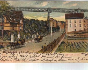 Weida, Oschutztal, Viadukt (train bridge), antique postcard, Germany, New York, Baltimore, Zulenroda-Triebes, Greize Thuringia