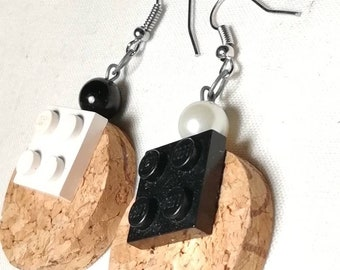 Pin Earring with Cork disc