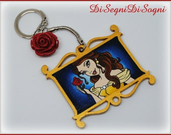 Beautiful key ring-Beauty and The Beast