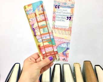 PRINCESS & THE PEA bookmark fairy tale bookmark faerie tale feet princess and the pea hans christian andersen colorful reads bookish