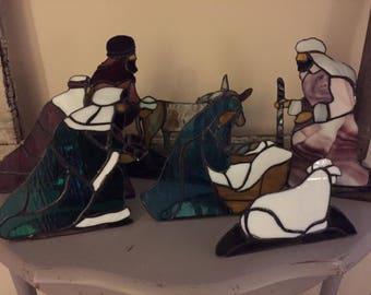 Stain Glass Nativity Set (Large)