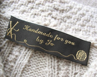 1000 custom woven labels - SATIN fabric tags - complimentary woven sample - your logo/artwork  - USA supplier