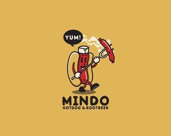 Mindo Hotdog Logo Template