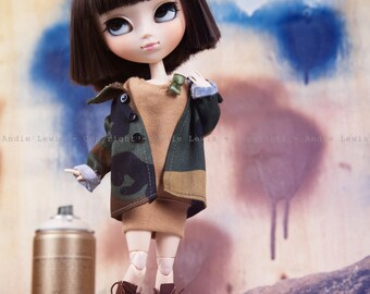 "Tirage simple 10x15cm ""Pschhhh"" - Pullip Isul Dal photographie, doll art collection, impression deco no BJD no Blythe"