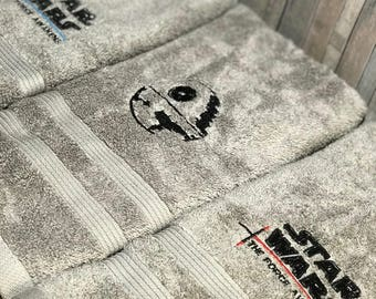 towel set with Star Wars you choose which symbols