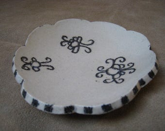 Artifact Inspired Ceramic Dish - Art Dish - Yaya Mama Stele Detail - Archaeology