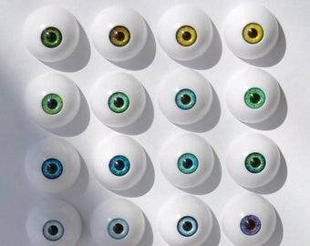 BJD acrylic eyes - small iris - 14mm - 16mm