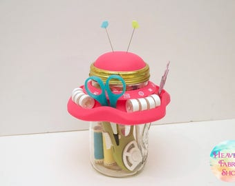 Silicone Mason Jar Sewing Caddy
