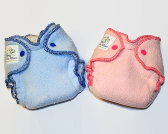 Cotton Sherpa Newborn Fitted Diaper Custom Made