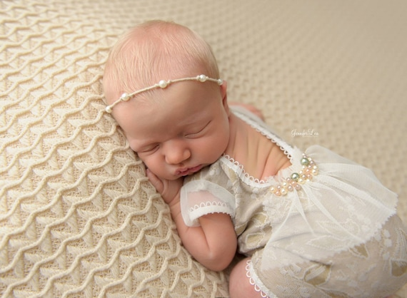 Newborn prop photo props newborn romper neutral baby