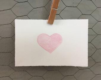 Pink Heart Art Card