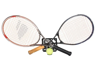 Tennis racket storage rack wall mount (100% Steel)