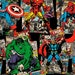 """Marvel Fabric - Marvel Vintage Character Toss 100% cotton 43/44"""" fabric by the yard ***SC528***"""