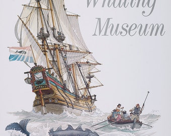 Kendall Whaling Museum Poster.  Signed by artist.