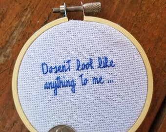 Doesn't look like anything to me cross stitch