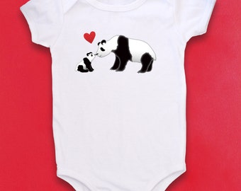 Panda baby, Cute baby bodysuit, Unique baby clothes, Panda bodysuit, Bear bodysuit, China, Teddy Bear baby, Zoo animal baby, Love