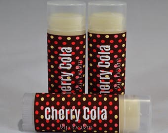 Cherry Cola - Lip Balm - Flavored Lip Balm- Natural Lip Butter- Handmade - Cherry Cola Chapstick