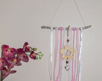 Hanging driftwood, kids room decor baby room mobile,