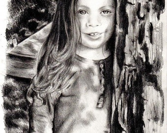Custom Child Portraits. Framed. Sizes A5, A4 and A3.