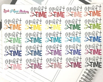 Craft Time! - set of 24 stickers for your Erin Condren, Inkwell Press, Happy Planner or other calendar or planner!