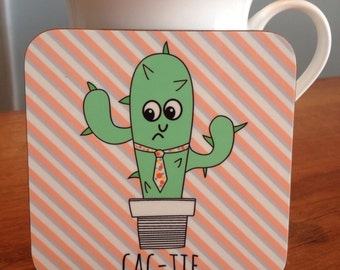 Cac-Tie Cactus Coaster