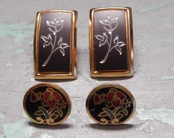 Two Pairs of Vintage Pierced Earrings!