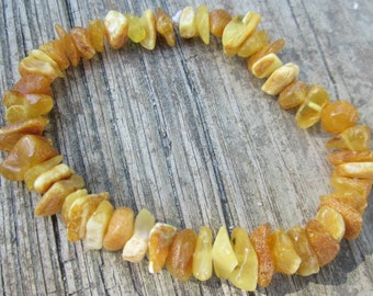 """Baltic Amber Calming Nugget Stretch Bracelet Teen/Adult Size Gorgeous-- """"The Autumn"""" FREE SHIPPING"""