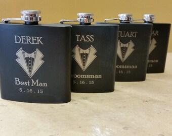 Custom engraved flasks