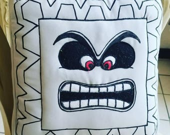 Thwomp Block Pillow Mario