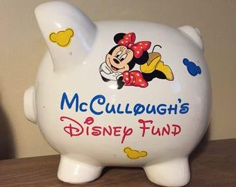 Personalized Disney Fund Piggy Bank