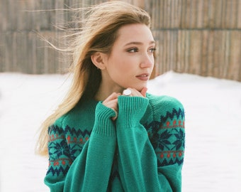 Vintage 80s Moriarty Sweater Hand Knit