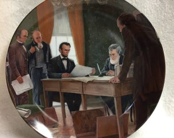 Knowles - The Emancipation Proclamation Collector Plate - President Lincoln (#011)