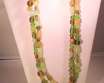 Multi Green Necklace