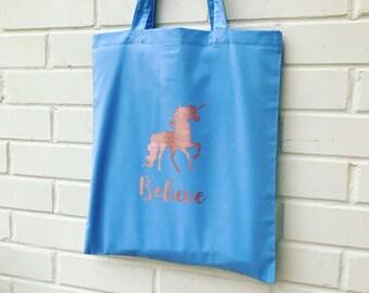 Unicorn Tote -  Tote Bag  - Bag For Life - Shopper Bag -  Unicorn Gift