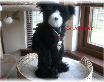 OOAK Handstitched    16 inch  Steiff Schulte Curlylocks Mohair Teddy Bear 'La Fantome' Musical